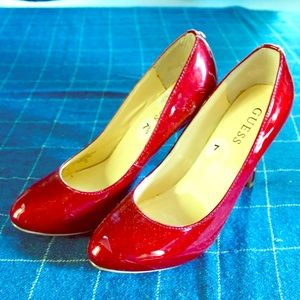 Deep Red Guess Heels